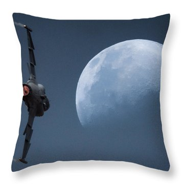 Gripen Moon Throw Pillow