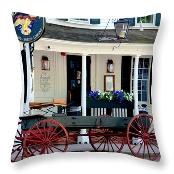 Griswold Inn And Tavern Throw Pillow by Caroline Stella