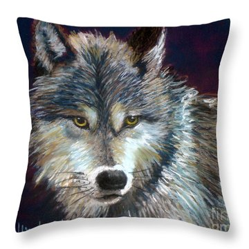 Grizzer Throw Pillow by Susan Woodward
