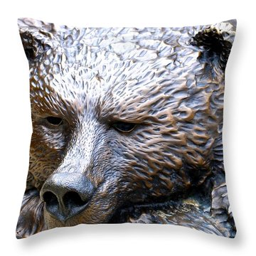 Grizzly Bear 2 Throw Pillow