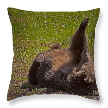 Throw Pillow featuring the photograph Grizzly by J L Woody Wooden