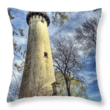 Grosse Point Lighthouse Color Throw Pillow