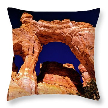 Grosvenor Arch Sunset Kodachrome Basin Throw Pillow by Ed  Riche