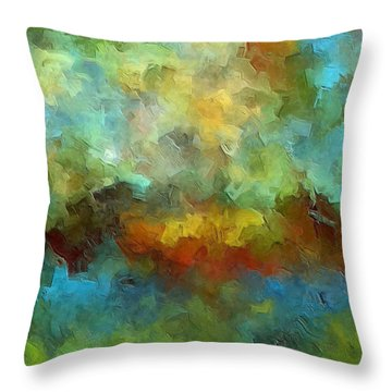 Grotto Throw Pillow by Ely Arsha