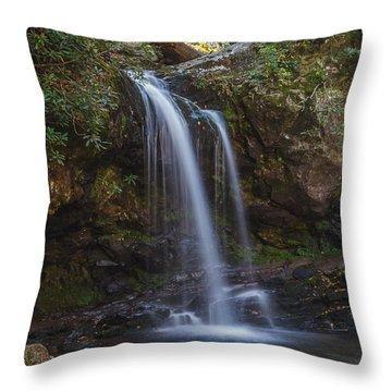 Grotto Falls I Throw Pillow