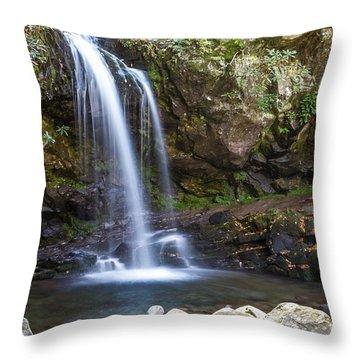 Grotto Falls II Throw Pillow