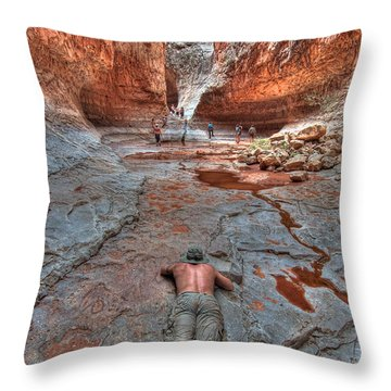 Grotto Stretch Throw Pillow