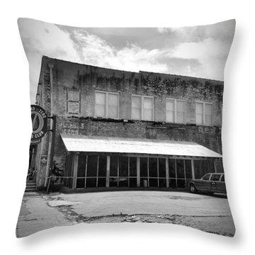 Ground Zero Black And White Throw Pillow