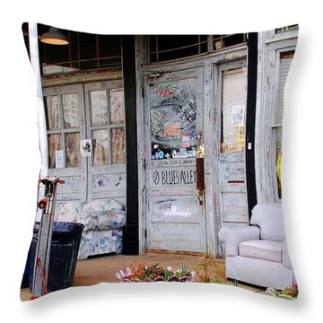 Ground Zero Clarksdale Mississippi Throw Pillow by Lizi Beard-Ward