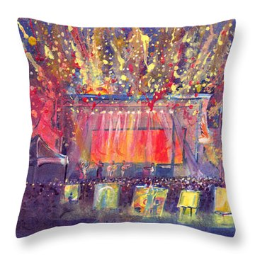 Groundation At Arise Music Festival Throw Pillow by David Sockrider