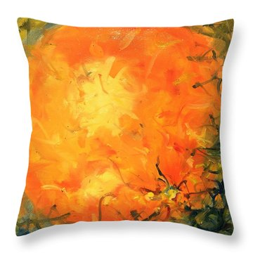 Grounded Orange Throw Pillow