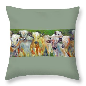 The Gathering, Cattle   Throw Pillow