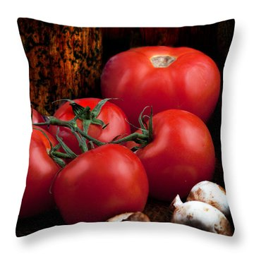 Throw Pillow featuring the photograph Group Of Vegetables by Gunter Nezhoda