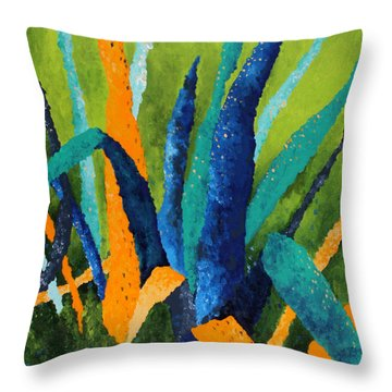 Grow 1 Throw Pillow by Michelle Boudreaux