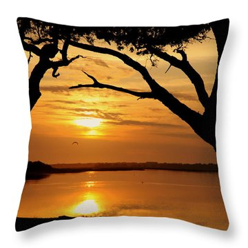 Grow Old Beside Me Throw Pillow by Karen Wiles