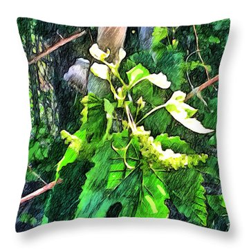 Grow Positively Throw Pillow
