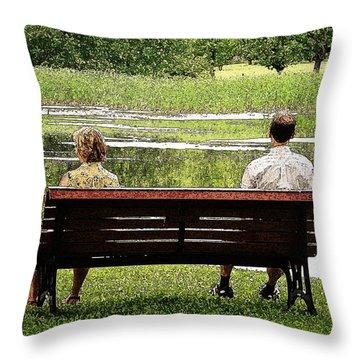Throw Pillow featuring the photograph Growing Apart by Zinvolle Art