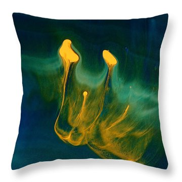 Growing Confidence - Fluid Abstract Art By Kredart Throw Pillow