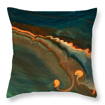 Growing Emotions - Contemporary Fluid Abstract Art By Kredart Throw Pillow
