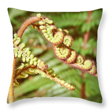 Growing Fern Throw Pillow