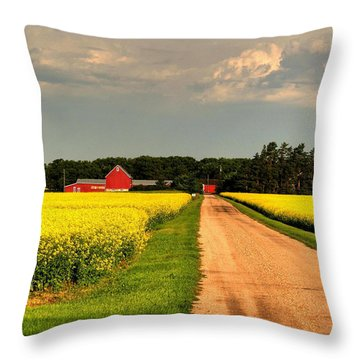 Growing For Gold Throw Pillow