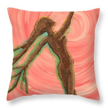 Growing Pulse Throw Pillow