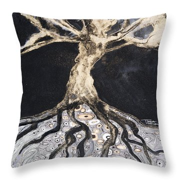 Growing Roots Throw Pillow by Tara Thelen