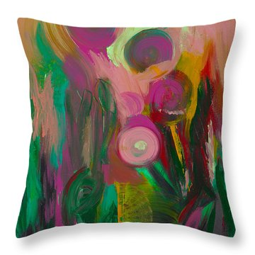 Growing Together Throw Pillow by Donna Blackhall