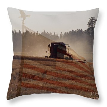 Grown In America Throw Pillow