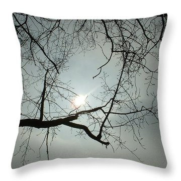 Grown In Cold Light Throw Pillow