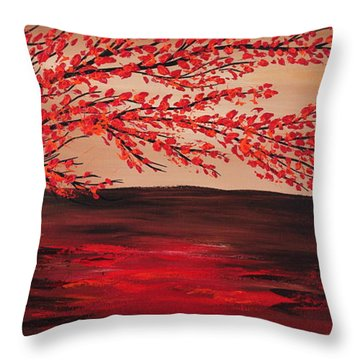 Growning Down To The Water Throw Pillow