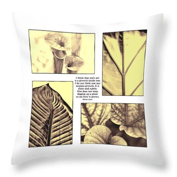 Throw Pillow featuring the photograph Growth by John Hansen