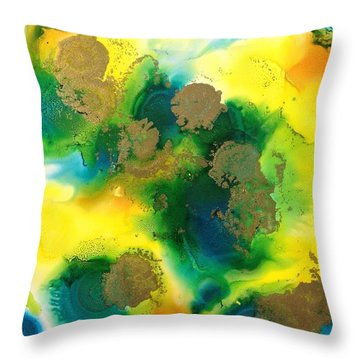 Growth Space Throw Pillow by Tara Moorman
