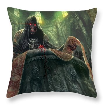 Grudge Keeper Throw Pillow