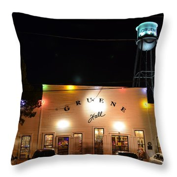 Gruene Hall Throw Pillow