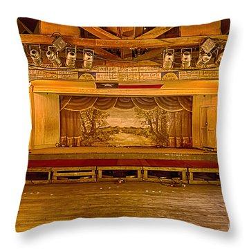 Gruene Hall Throw Pillow by Priscilla Burgers