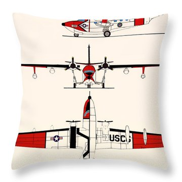 Grumman Hu-16e Albatross Throw Pillow by Mountain Dreams