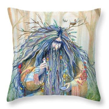 Grumpy Troll Throw Pillow by Sara Burrier