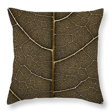 Grunge Leaf Detail Throw Pillow by Carsten Reisinger
