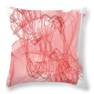 Aries - Red Abstract Zodiac Sign  Throw Pillow by Modern Art Prints