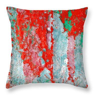 Grunge Weathered Paint Abstract Throw Pillow