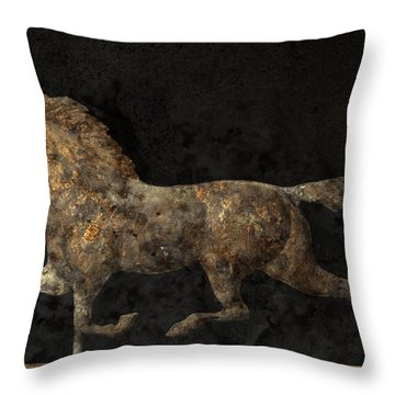 Grungy Antique Weathervane Throw Pillow by John Stephens