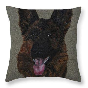 GSD Throw Pillow by Susan Herber