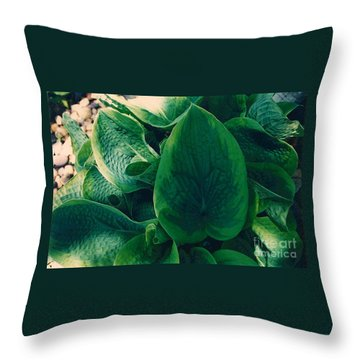 Guacamole Hosta Throw Pillow
