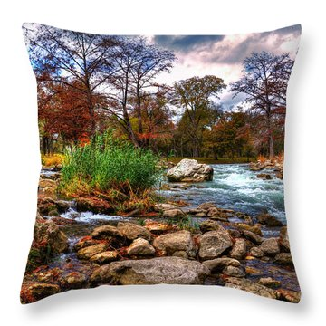 Guadalupe In The Fall Throw Pillow by Savannah Gibbs