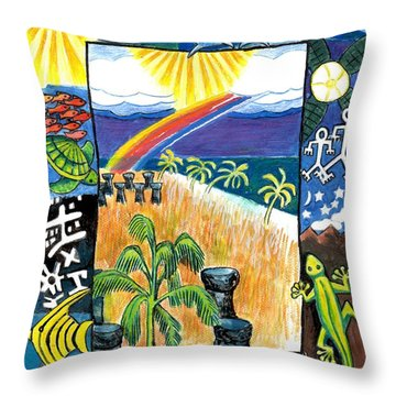 Guam Throw Pillow by Genevieve Esson