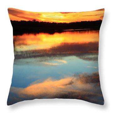 Guana River Sunset Throw Pillow