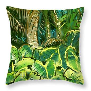 Guanabana Tropical Throw Pillow by Jean Pacheco Ravinski
