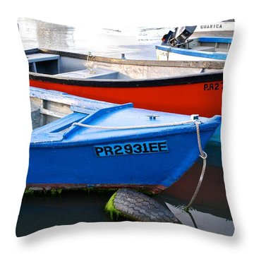 Guanica Skiffs Throw Pillow
