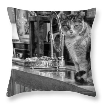 Guard Cat Throw Pillow